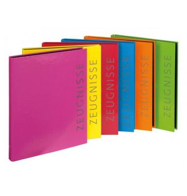 Zeugnismappen-Ringbuch 4144301 farbig sortiert A4 2-Ring Ø 16mm