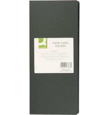 KF03663 Visitenkartenbuch schwarz