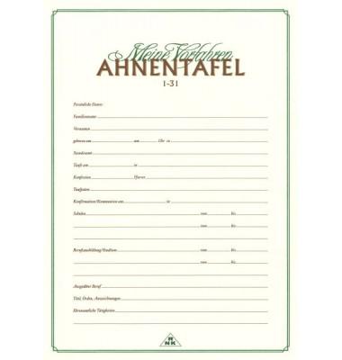 Ahnentafel 2800 1-31 A3.A4