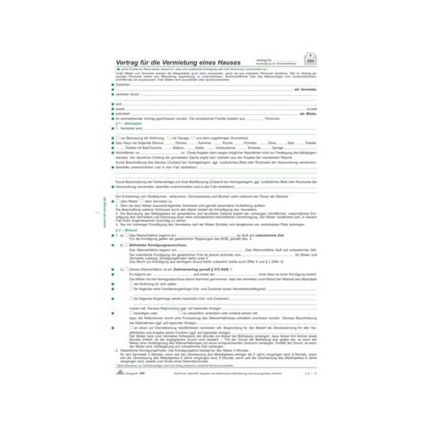 RNK 545 Mietvertrag A4 Haus