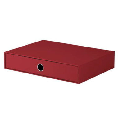 Schubladenbox Soho rot 1 Schublade geschlossen