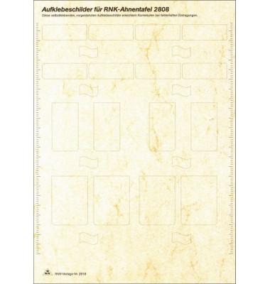 Etikettenblatt 2818 für Ahnentafel