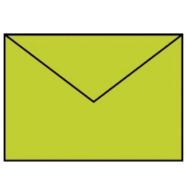 Designbriefumschläge B6 ohne Fenster nassklebend 100g hellgrün 5 Stück