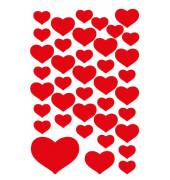 3841 Schmucketikett Herzen rot