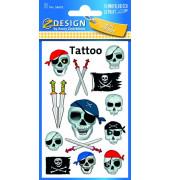 56632 Tattoo Piraten-Totenkopf fbg.