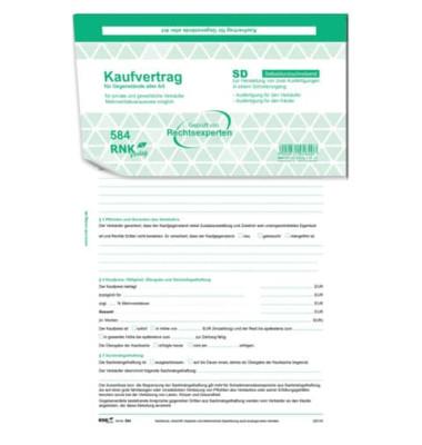 Rnk 58410 Universal Allgemein Kaufvertrag A4 10st Sd