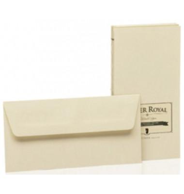 Designbriefumschläge Paper Royal Din Lang ohne Fenster nassklebend 100g chamois 20 Stück