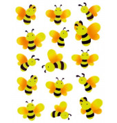 6038 Sticker Magic Bienen Neon