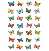 6819 Magicsticker Schmucketikett Schmetterlinge