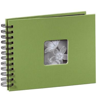 94880 22x17cm Fotospiralbuch Fine Art grün