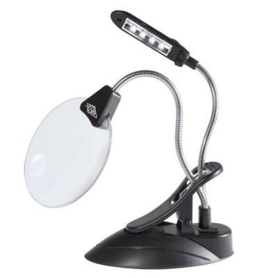 271 75201 12,5 cm Lupenlampe mit LED schwarz