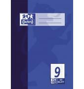 Schulheft A5 Lineatur 9 liniert mit Rand weiß 32 Blatt