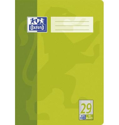 Schulheft A4 Lineatur 29 rautiert mit Doppelrand weiß 16 Blatt