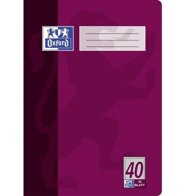 Schulheft A4 Lineatur 40 kariert mit Rahmen weiß 16 Blatt