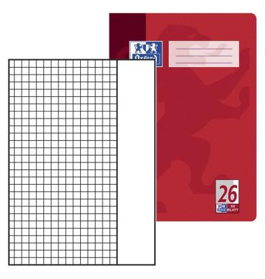 Schulheft A4 Lineatur 26 kariert mit Rand weiß 32 Blatt