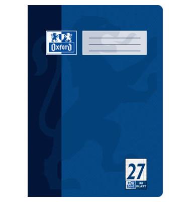Schulheft A4 Lineatur 27 liniert mit Doppelrand weiß 32 Blatt