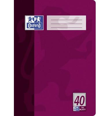 Schulheft A4 Lineatur 40 kariert mit Rahmen weiß 32 Blatt