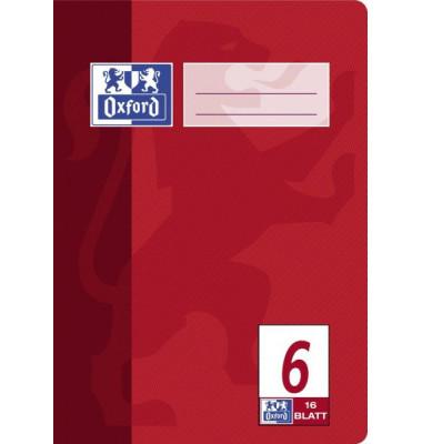 Schulheft A5 Lineatur 6 blanko weiß 16 Blatt