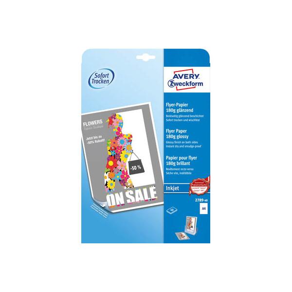 Zweckform 2789-40 40Bl Inkjet Flyer-Papier A4 180g