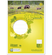 040750007 Green Pure 70g Schulblock A4 50BL Lin7