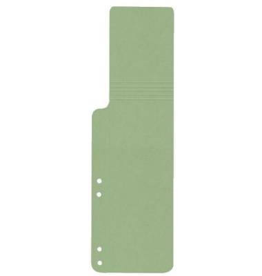 Aktenfahnen KF15769 grün 320g gelocht 100x320mm 100 Blatt