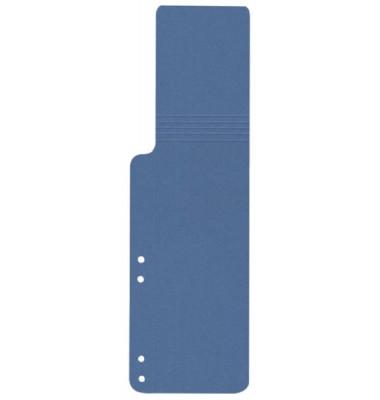 Aktenfahnen KF15773 blau 320g gelocht 100x320mm 100 Blatt