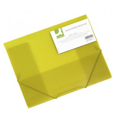 Eckspannmappe A4 PP gelb transparent