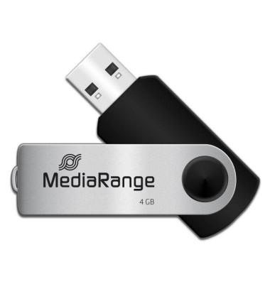 USB-Stick Speed USB 2.0 silber/schwarz 4 GB