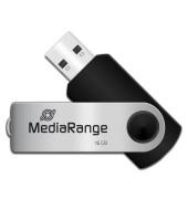 USB-Stick Speed USB 2.0 silber/schwarz 16 GB