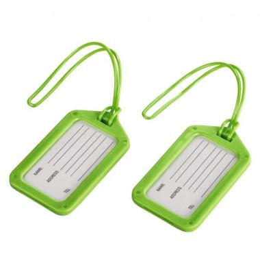 105325 Gepäckanhänger 2ST grün