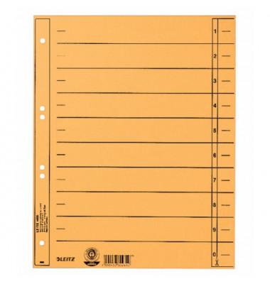 1658-00-15 100ST durchgefärbt Trennblatt A4 gelb ungeöst