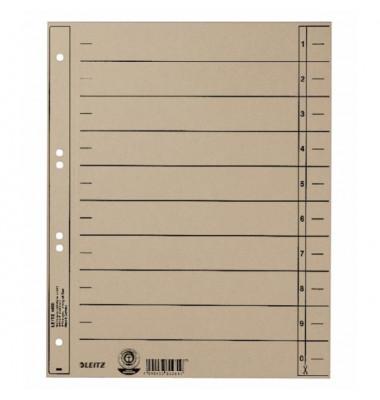 1658-00-85 100ST durchgefärbt Trennblatt A4 grau ungeöst