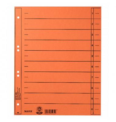 1658-00-45 100ST durchgefärbt Trennblatt A4 orange ungeöst