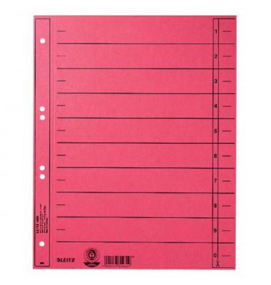 1658-00-25 100ST durchgefärbt Trennblatt A4 rot ungeöst