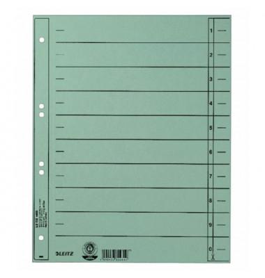 1658-00-30 100ST durchgefärbt Trennblatt A4 hellblau ungeöst