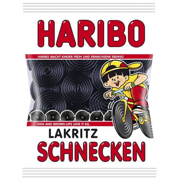 HARIBO 2799962 200g Fruchtgummi Lakritz Schnecken