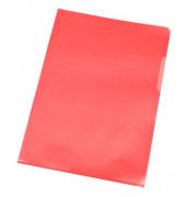 Sichthüllen KF00306, A4, rot, transparent, genarbt, 0,12mm, oben & rechts offen, PP