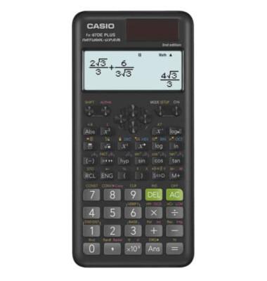 Grafik-Schulrechner FX-87DE Plus Solar-/Batterie LCD-Display schwarz/grau 4-zeilig 14-stellig
