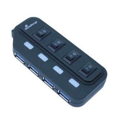 MRCS505 USB-Hub 3.0 1:4 weiß / schwarz