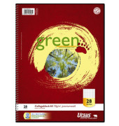 608590028 Green 70g Collegeblock A4 160BL Lin28
