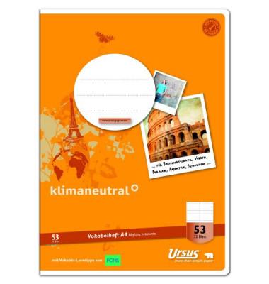 Vokabelheft Basic A4 Lineatur 53 liniert 2 Spalten weiß 32 Blatt