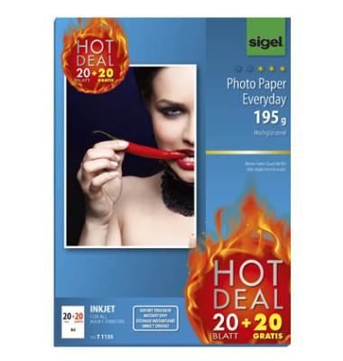 T1155 A4 Inkjet Fotopapier 20+20BL ws