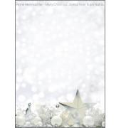 Weihnachtspapier White Stars A4 25 Blatt DP013
