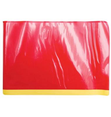 SCOLAFLEX 20250 Plastik Tafelschoner rot m. Stiftehalt
