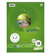 GREEN 608565028 Collegeblock A4 80BL LIN28