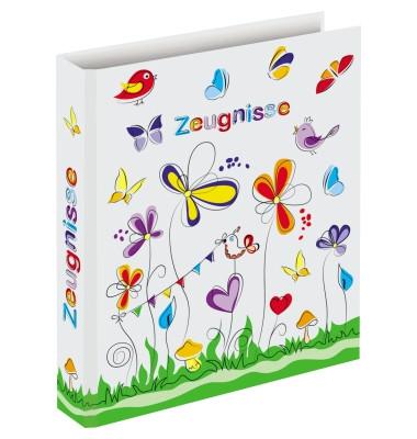 Zeugnismappen-Ringbuch 46428 Schmetterlinge A4 4-Ring Ø 20mm