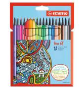 6818-7 Pen 68 Faserschreiber 18ST sortiert