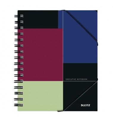 Collegeblock Executive BeMobile Notebook 4451-00-00, A5 liniert, 90g 80 Blatt, 4-fach-Lochung