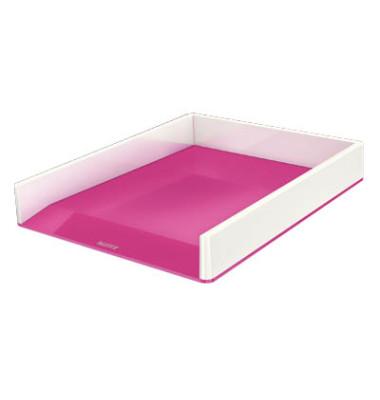 Briefablage 5361 Duo Colour Wow A4 / C4 weiß/pink metallic stapelbar
