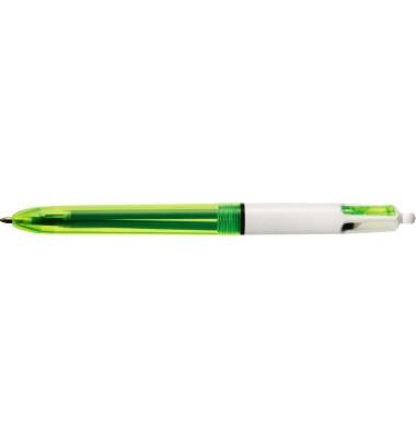 Mehrfarbkugelschreiber 4Colours Fluo transparent/neongelb Mine 0,4mm Schreibfarbe 4-farbig
